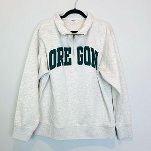 University of Oregon 1/4 Zip Pullover Sweatshirt